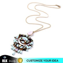 Light Blue Beads Fashion latest design beads necklace