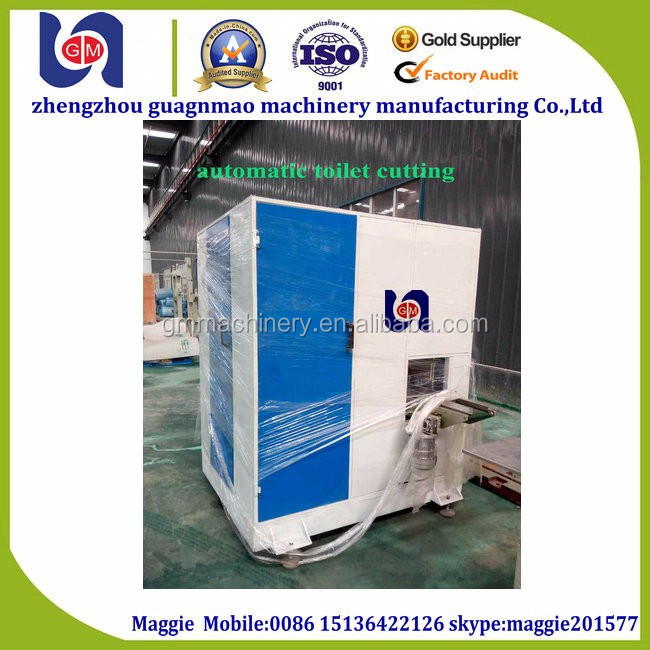 manual and automatic toilet cutting machine tissue paper machine cutting and paper wrapping machine