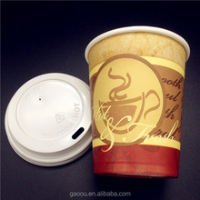 Wholesale different size cheap price various color printed disposable paper coffee cups