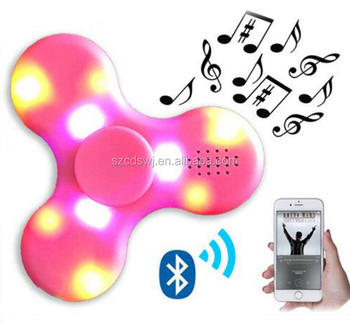 Fashion hobbies fidget spinner with bluetooth speaker function