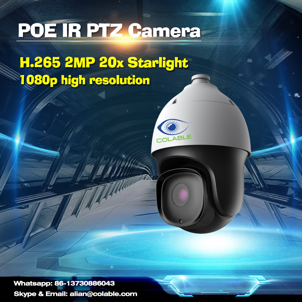 Colable COL-SV3253WUR8P-X20 H.265 2MP 20x Starlight POE+ IR PTZ ip network camera 20x optical zoom hd ip camera outdoor ptz