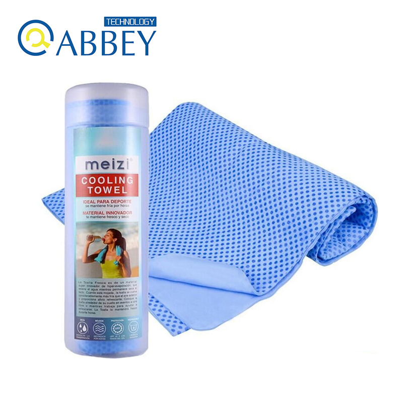 Compressed Bottle Kit Ice Cooling Towel for Sports/Athletics/Gym