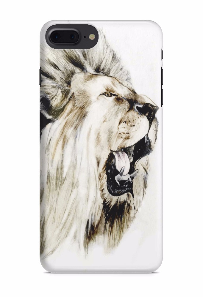 IMD customized tiger lion design new arrival mobile phone accessories tpu pc slim case for iphone7/7 plus