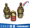 Fast Open good quality brass cartridges for faucets ceramic disc red and blue rubber gasket