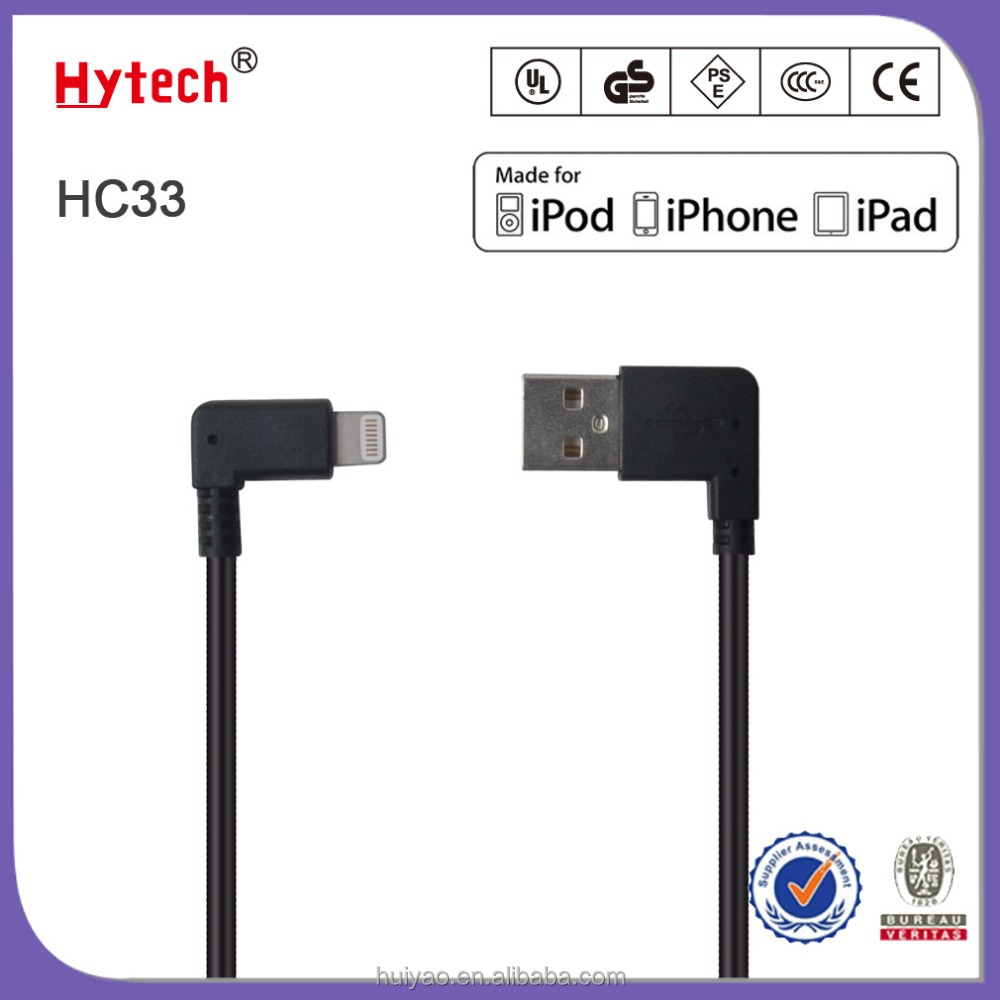HC33 MFi certified right angle TPE light-ning cable mfi certified manufacturers