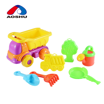 Environmental plastic colorful ocean sand beach set plastic toy for summer play