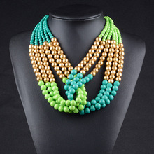 Popular Indian bead jewelry bib necklace wholesale