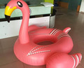 New arrival ce certificate pvc 195cm large swimming pool toys inflatable pink swan