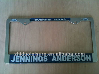 USA car Zinc alloy license plate frame