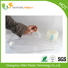 China Manufacturer Surface Protection Temporary PE Self Adhesive Clear Plastic Protective Film