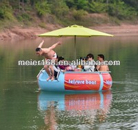 Electric motor Battery control Boat for Water Theme Park