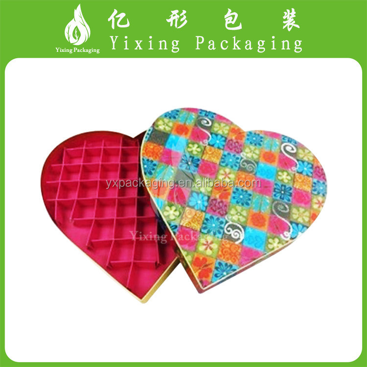 Lovely various heart shape chocolate boxes with your own logo