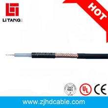 Flexible mini copper conductor coaxial cable thin rg6 coaxial cable