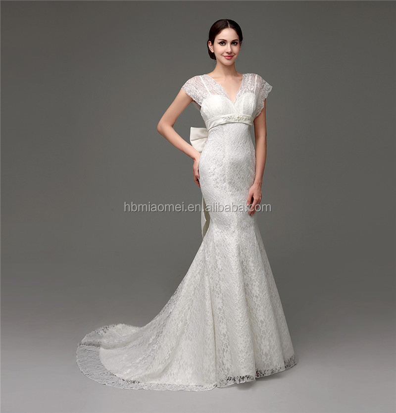 Flower Appliqued ball gown wedding dress online shop