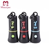 pet products items factory design PP plastic flashlight dispenser with dog waste bag LED dog poop bag dispenser