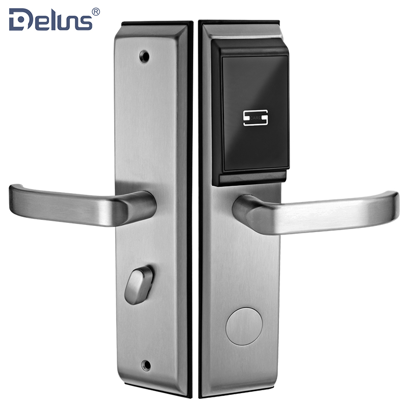 SUS304 ANSI mortise waterproof card door electronic hotel lock system