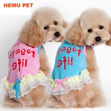 2017 hemu new dog cat puppy fly summer vest Shirt clothes apparel pet dress
