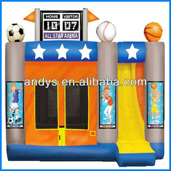 Classic design sports inflatable combo,Inflatable Football Bouncer