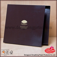 Glossy disposal stamping logo square shoe box tissue paper