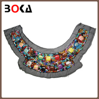European style handmade stones beaded women collar neck design