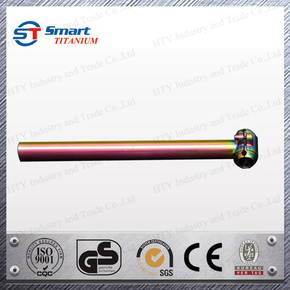 bike accessory Titanium seat post 27.2/31.6*350 colorful surface customized bike parts