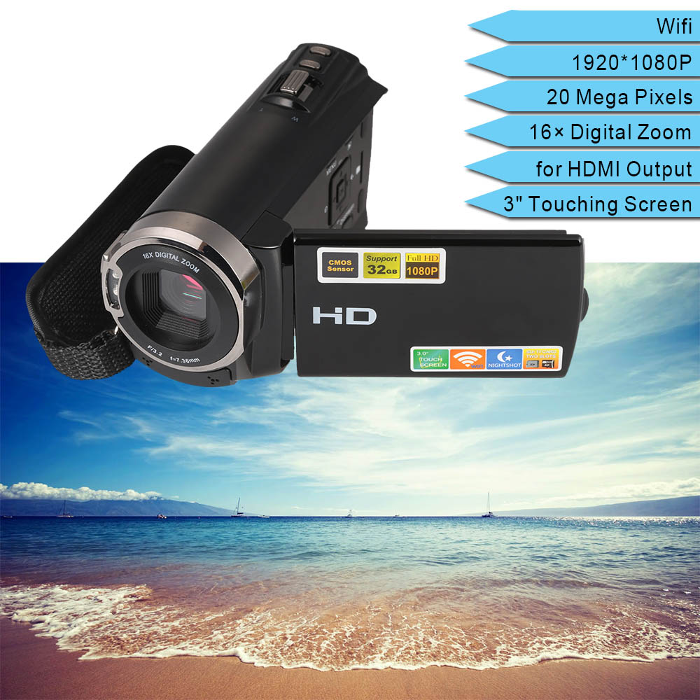 OEM Portable 1080P Full HD 20MP 16X Zoom Digital Video Camera Price in China Recorder DVR Camcorder Support Wifi IR Night-Shot