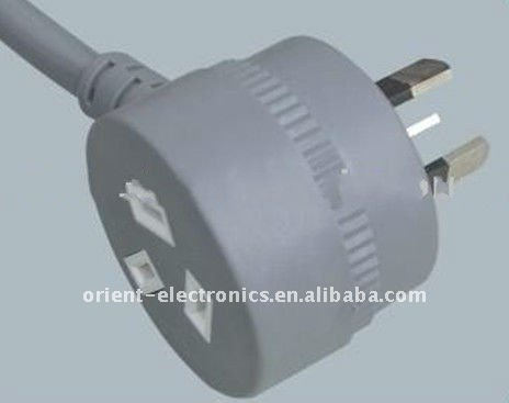 SAA piggy back plug with extension cord for Australia market