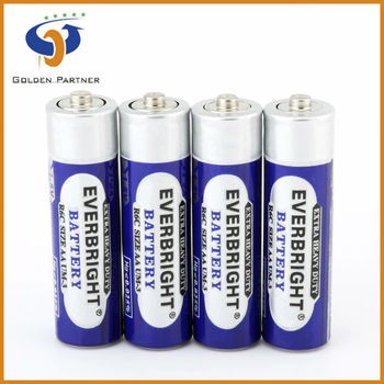 High performance r6 aa um-3 1.5v dry zinc chloride battery for toys