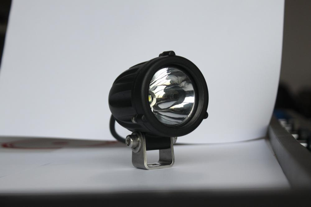China Aurora Smallest Waterproof 2'' 10w Motorcycle Led Round Spot Light
