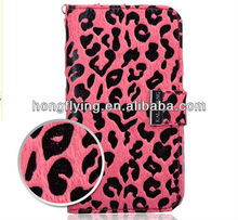 Leopard print leather material mobile case for Samsung Note 2 N7100