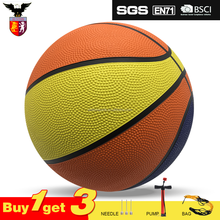 Good Quality Custom Logo Rubber Basketball Size 7