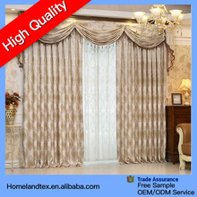 luxury blackout curtain with new design valance curtain