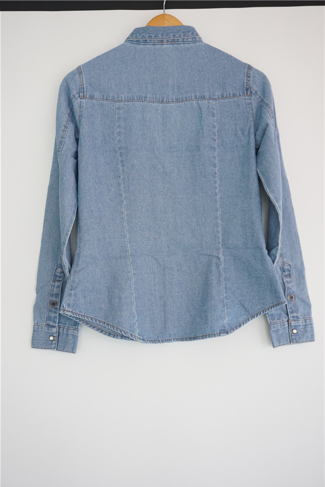 High quality OEM denim blouse