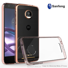 Anti-scratch transparent Acrylic mobile phone back cover case for Moto z force