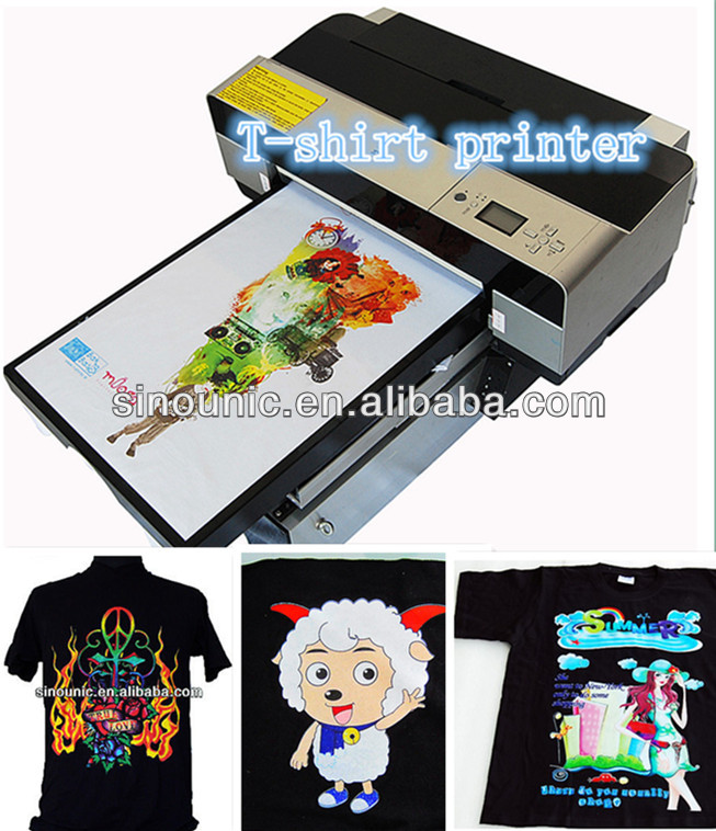 A3 black t shirt printing machine /A3 Size Professional T-shirt printer / Garments printer / plastical printer