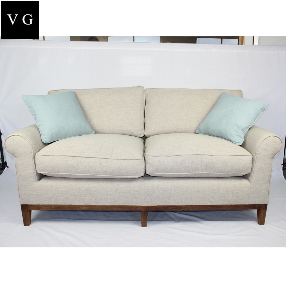 French unique fabric sofa, custom made funiture modern fabric living room handcrafted sofa