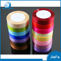 Factory Directly Wholesale Gift Packing Cheap Satin Colorful Christmas Decorative Tape, Silk Ribbons