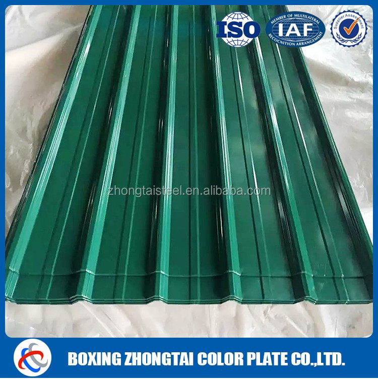 Roofing use and colored coated tile type corrugated ppgi sheet