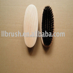 black bristle wooden shoe brush/cleaning tool