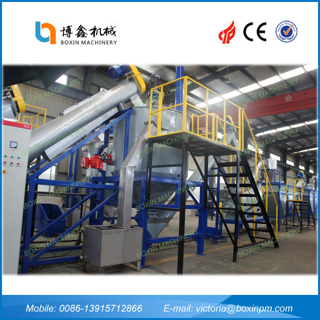 pet flakes recycling line. plastic bottle recycling plant