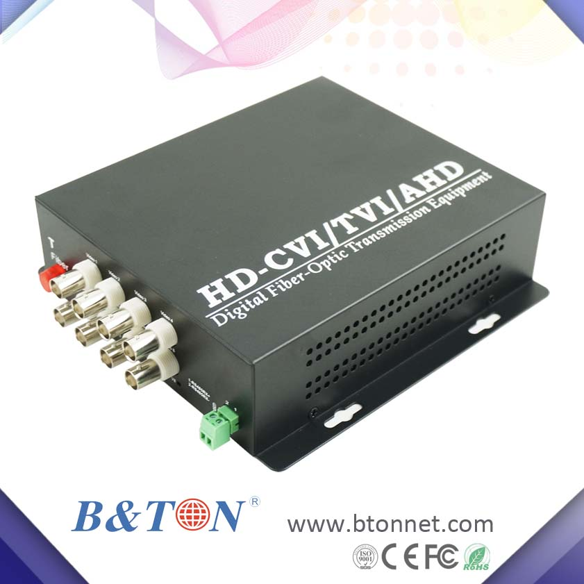 8 channel 1080P hd cvi/tvi/ahd convert ip camera to bnc fiber media converter
