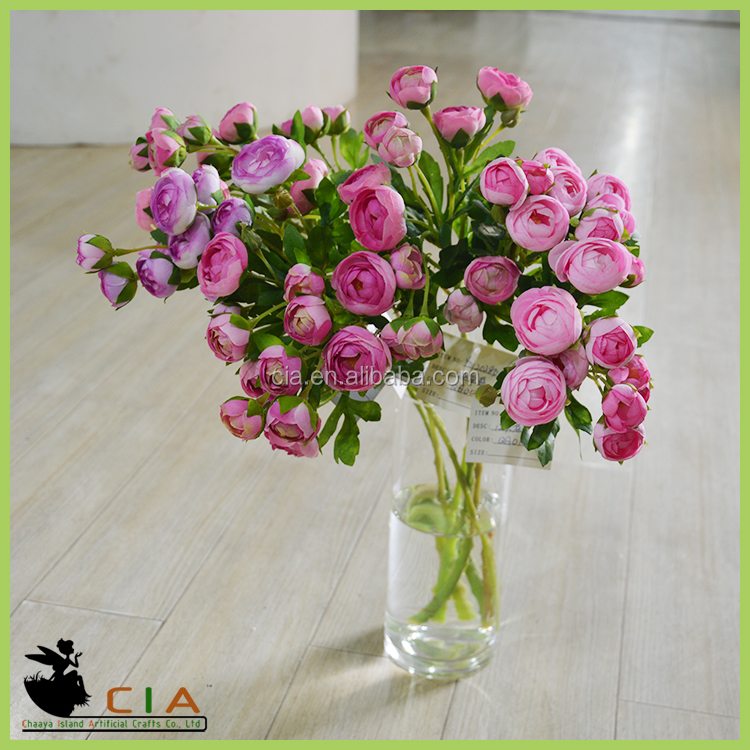 Artificial Handmade Plastic Rose Flowers Clay Miniature Flowers