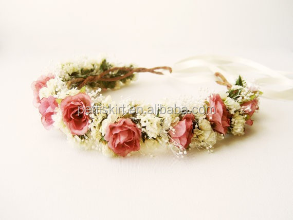 wholesale rustic wedding hair accessories beautiful floral crown