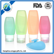 Silicone Empty Bottle set For Outdoor Travel Squeeze shampoo and shower
