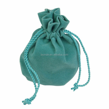 Promotional european style velvet anti tarnish pouch for jewelry beads