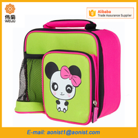 Thermal Kids Cute Cartoon Zoo Animal Canvas Lunch cooler Bag for school Picnic warmer Food Lunch Box Bag Tote