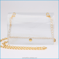 Payment protection supplier direct sale clear pvc shoulder bag for women