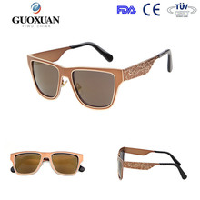 2015 retro half-frame sunglasses with acrylic lense and metal hinge