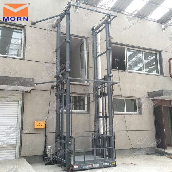 Top sales hydraulic vertical goods lift used for warehouse wall mounted cargo elevator