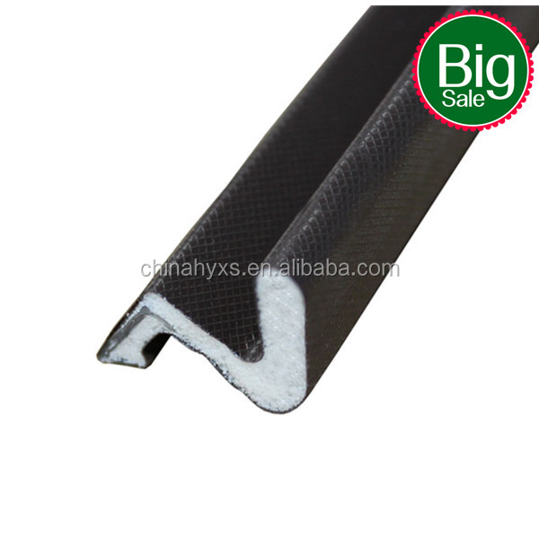 coated pu foam maturial sealing strip Groove weatherstripping(superior)